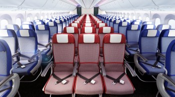 Both the 787 and the A350 economy class design