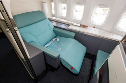 small resolution of  suites 2 0 designed with a sliding door and higher partitions to provide added privacy for passengers we have some exclusive shots of the new interior
