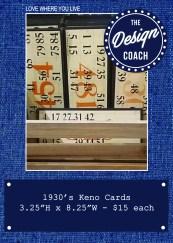 keno cards POP