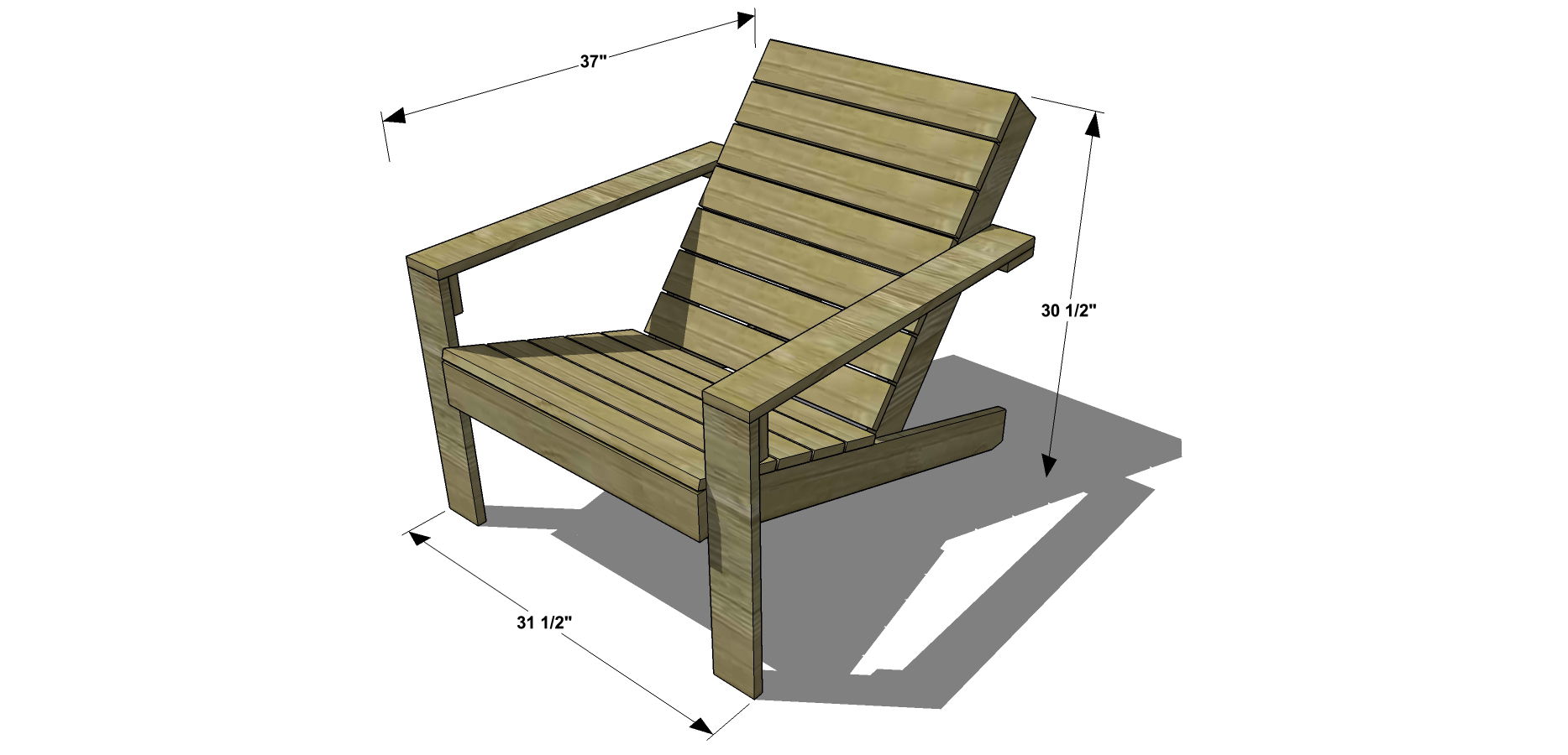 Plans For Adirondack Chairs Free Diy Furniture Plans How To Build An Outdoor Modern
