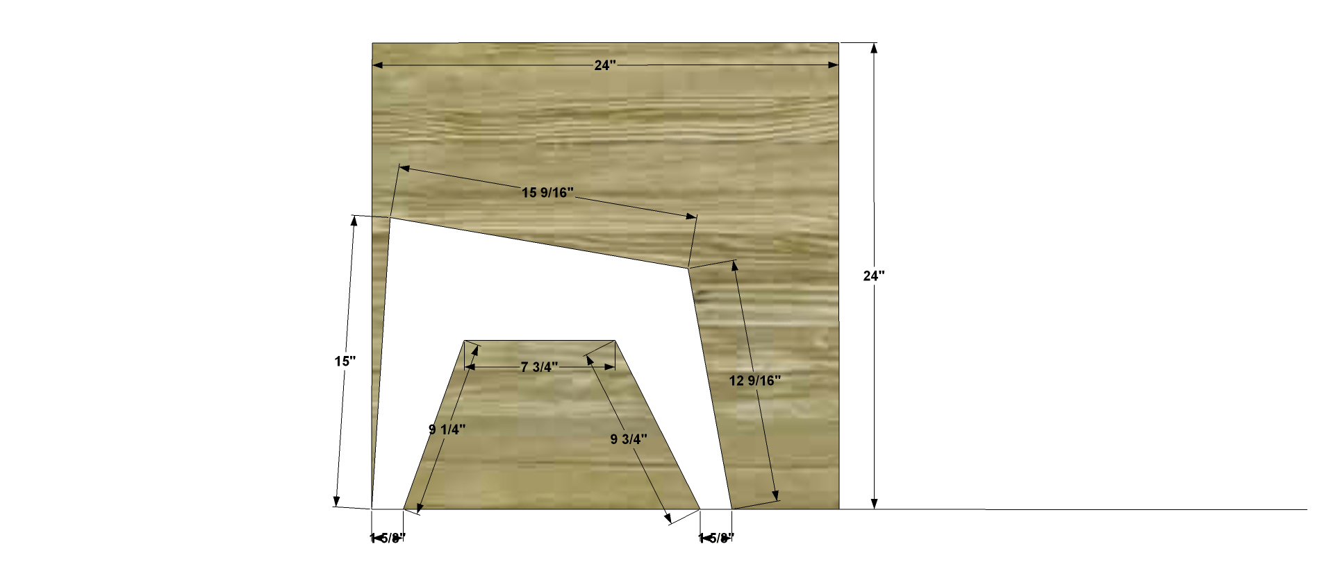 Adirondack Chair Template Free Woodworking Plans To Build A Cb2 Inspired Sawyer