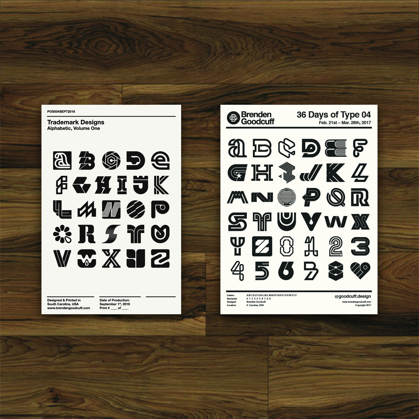 a visual presentation of the alphabet created by Brenden Goodcuff
