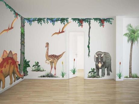 Bakungan Giant Peel & Stick Wallpaper for Kids from Walls of the Wild