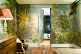'L'Eden' design in Eden colourway on scenic paper Available from de Gournay