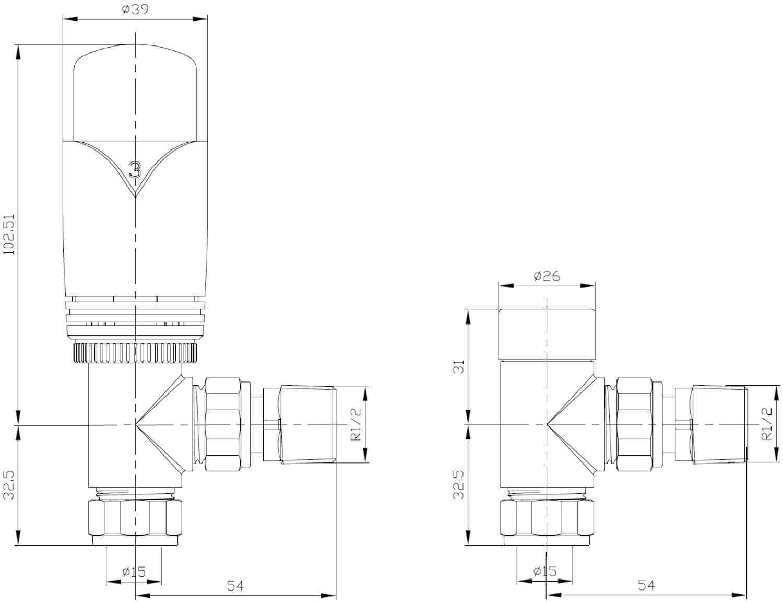 Realm Angled Trv Brushed Nickel Wheel-Head & Lock-Shield