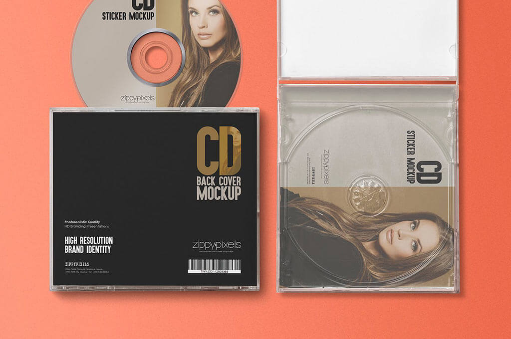 A free dvd box cover mockup that can be used for branding or music, video and game presentations. 25 Cd Mockups For Storing Your Design Data The Designest