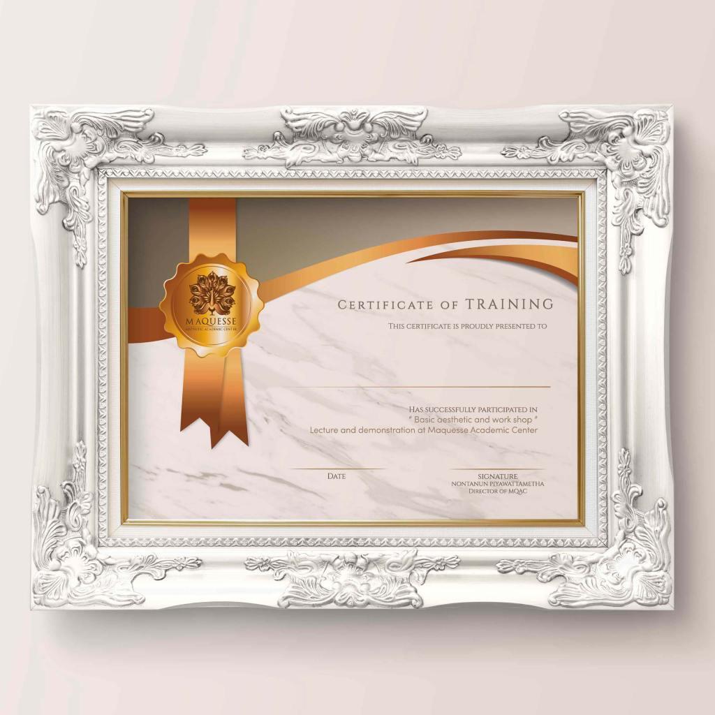 Certificate MAQUESSE