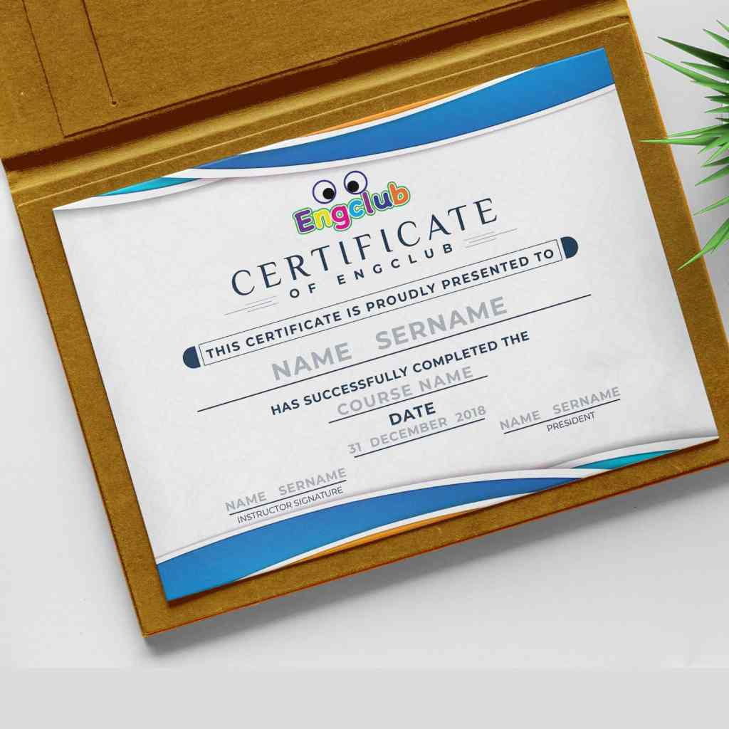 Certificate Engclub
