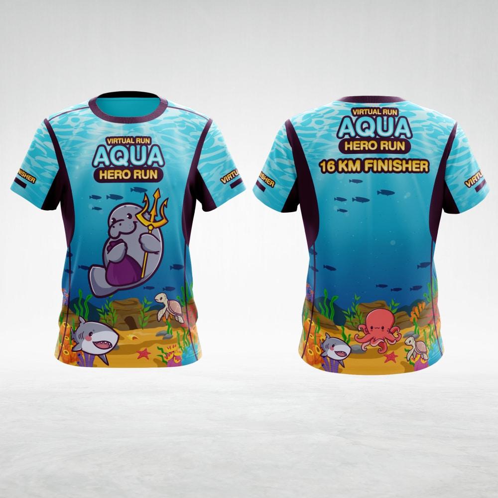 ลายเสื้อ AQUA Hero Run