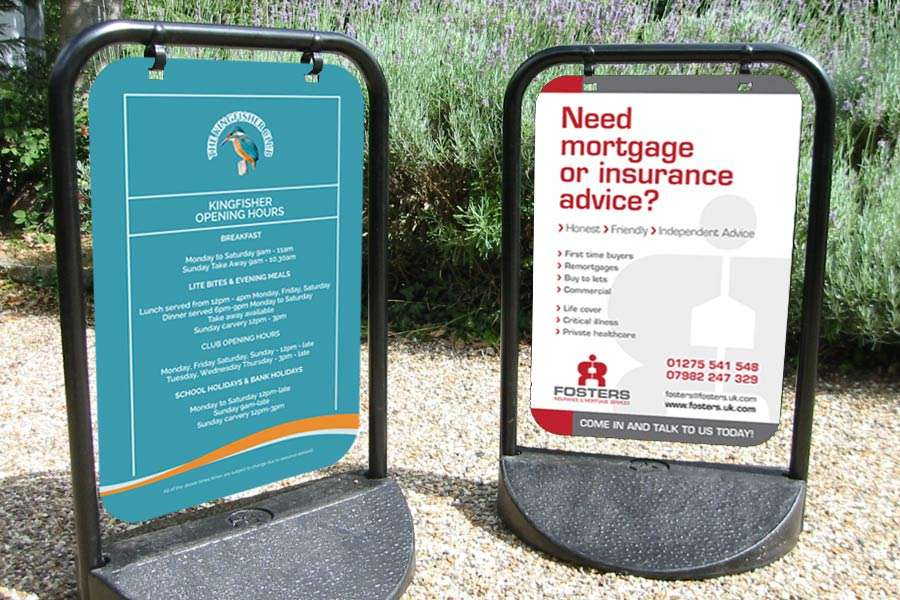 Swing sign design for mortgage company, Clevedon, Somerset