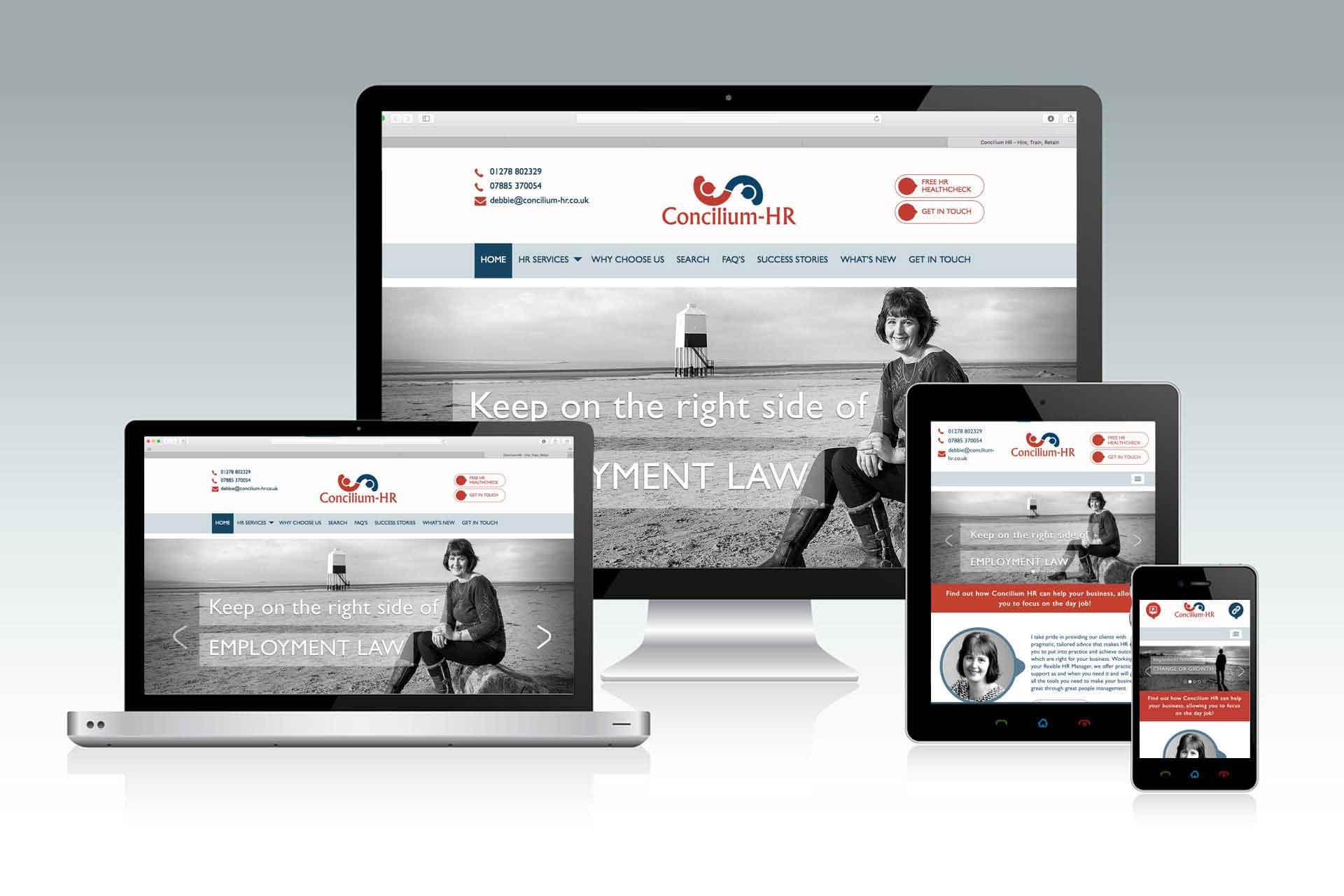 Website design for Concilium HR