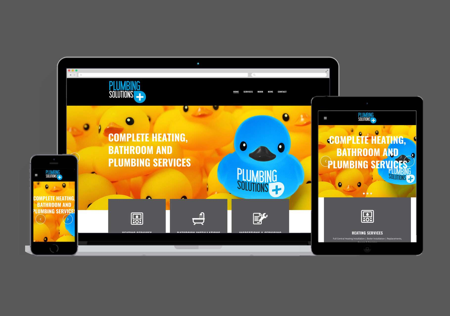 Plumbing-Solutions Plus Website Design