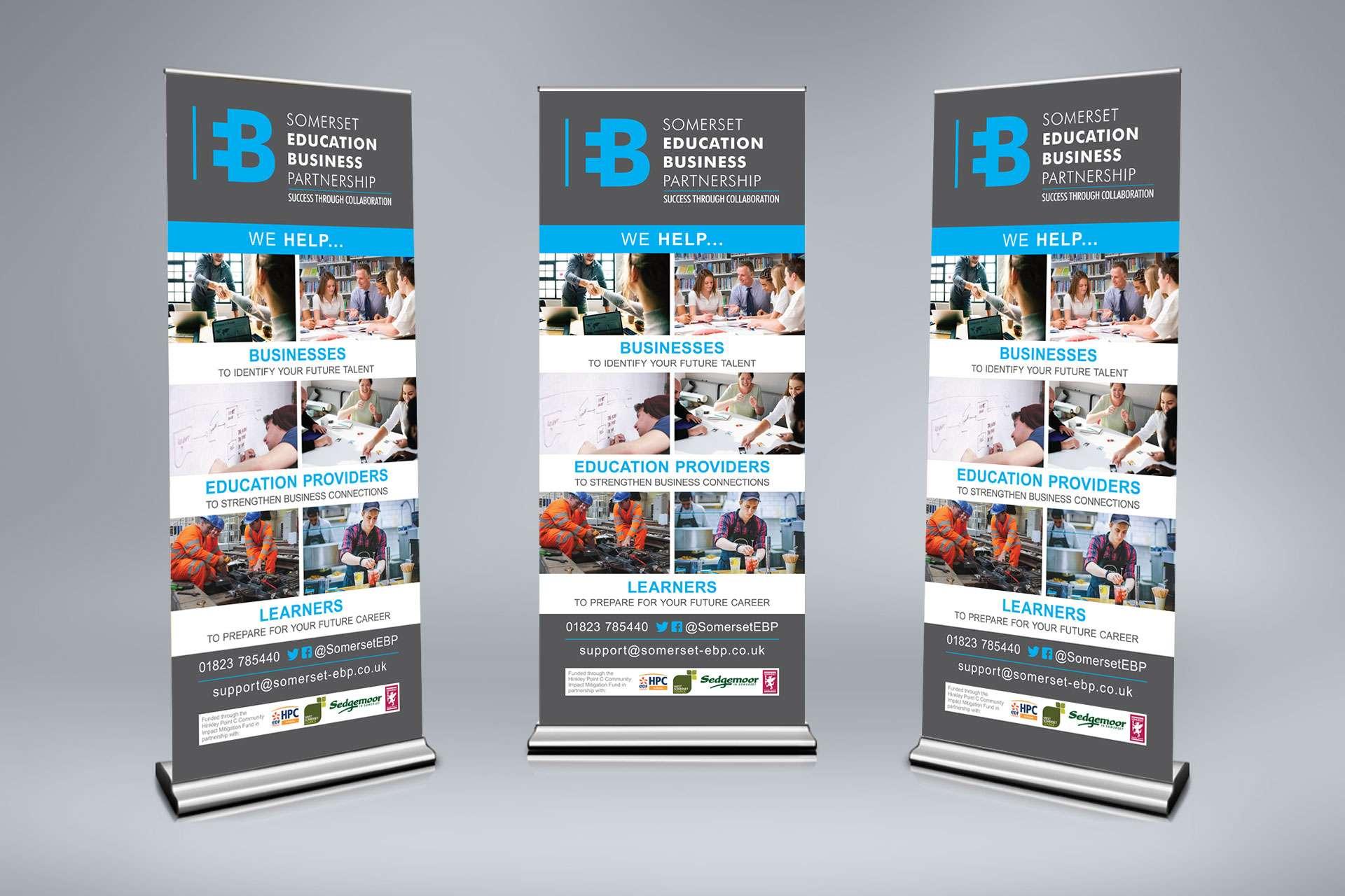 Somerset education business Partnership Pull Up Banner design