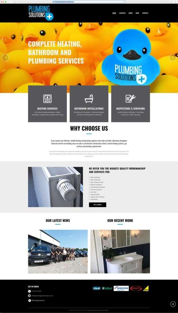 Somerset-Plumber-Website-Design-583x1024 Plumbing Solutions Plus Website Design | Brand-Development
