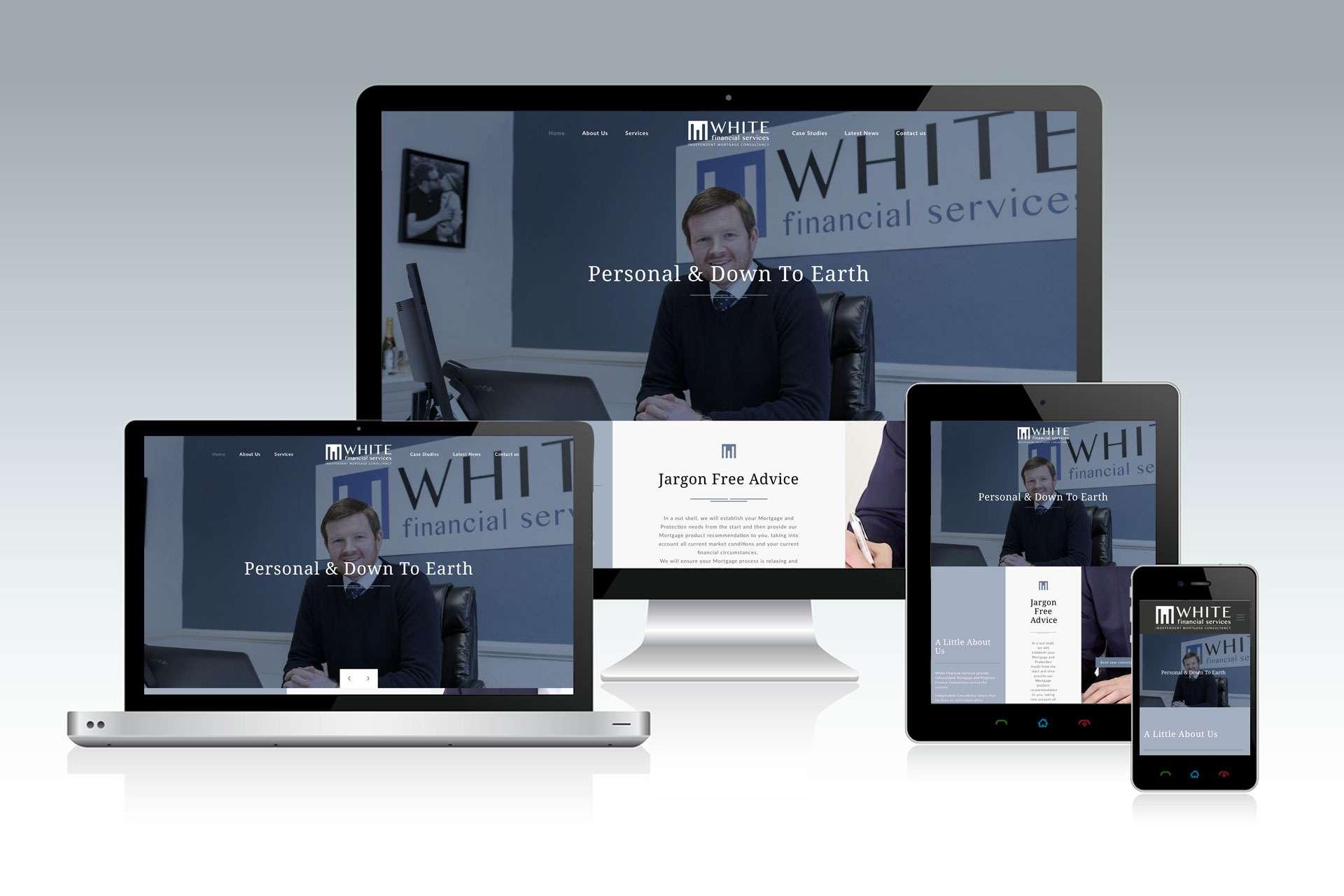 White Financial Website Design Taunton Somerset
