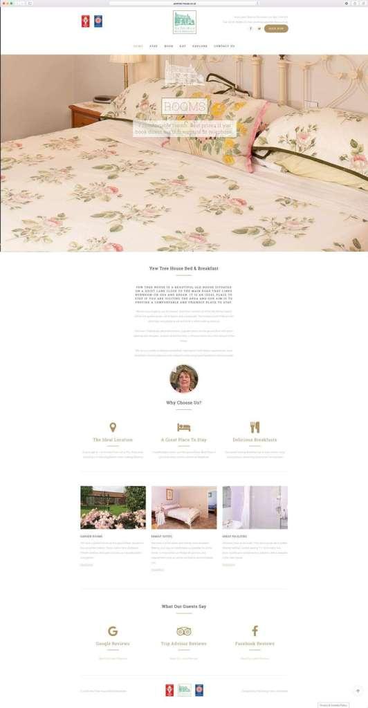 bed-breakfast-website-design-brean-somerset-532x1024 Yew Tree House Bed and Breakfast | Website | Business Card Design