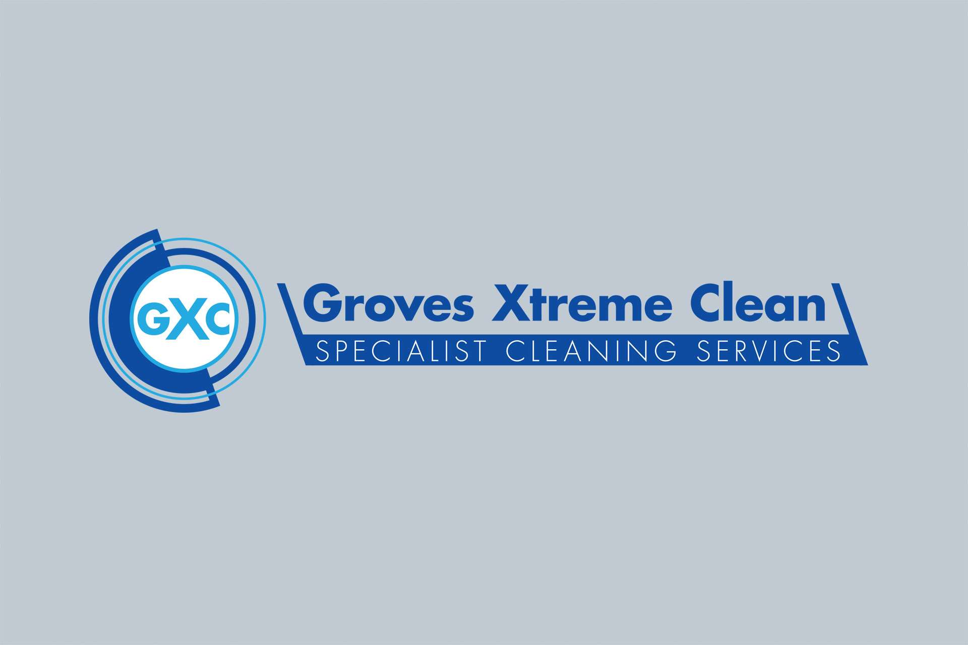 groves xtreme clean logo design