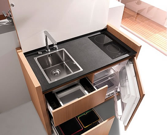 Compact HyperEquipped Kitchen K1 by Kitchoo