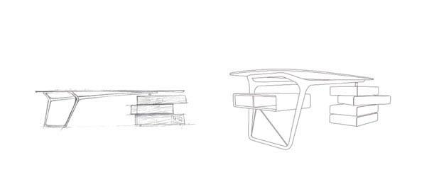 Omaggio Desk by Noé Duchaufour Lawrance