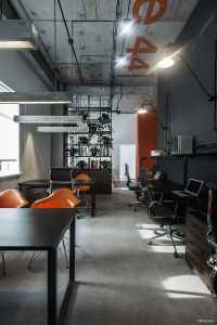 Cool offices in industrial style