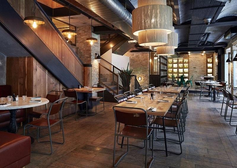 Restaurant In Industrial Vintage Style In Paris