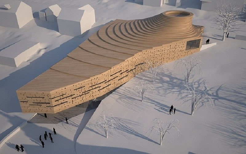 Project for a church with a contemporary architectural character in Norway