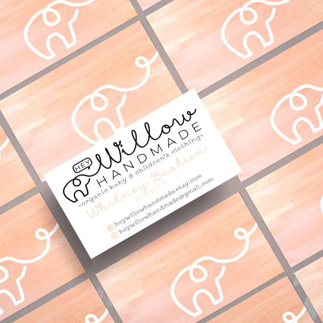 Hey Willow Handmade - Business Cards | Logo Design | The Design Jedi