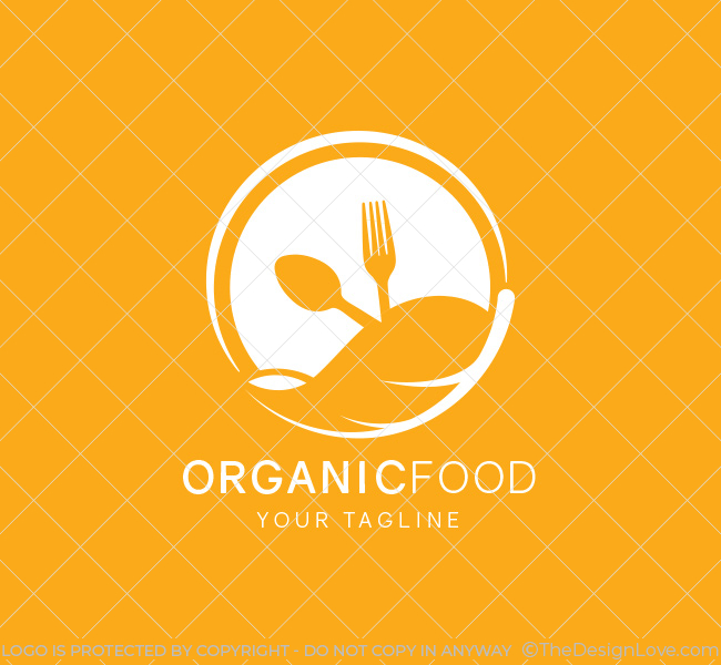 Organic Food Logo & Business Card Template The Design Love