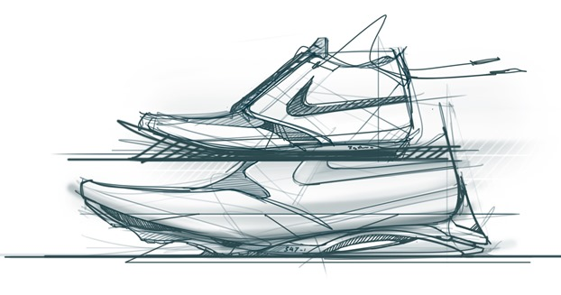 nike-sneaker-tablet-wacom-cintiq-22hd-the-design-sketchbook-sketching