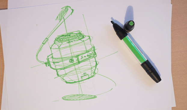 Sony lens Broad nib ID Sketching with Pantone Tria