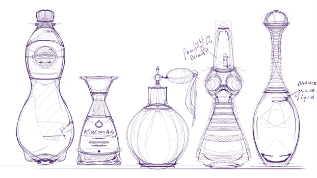 How to draw a Bottle: Soya sauce perfume bottle- Industrial design sketching