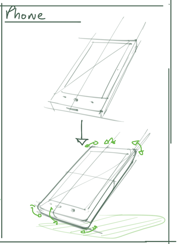 Phone more real from a basic shape - Industrial design sketching