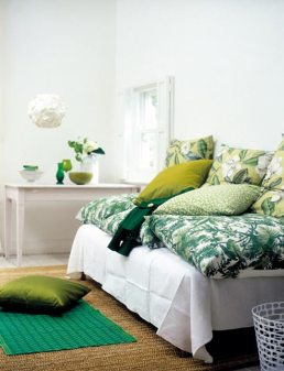 Shades and hues of green | via Apartment Therapy