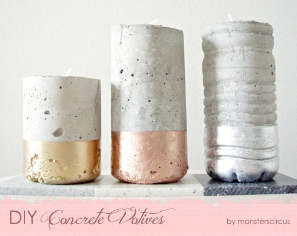 DIY Concrete Votives {The Design Tabloid}