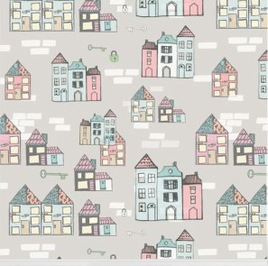 """Home Sweet Home"" wallpaper designed by Nicole Long available through Robin Sprong 