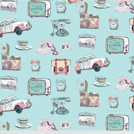 """Vintage Vibes"" wallpaper designed by Nicole Long available through Robin Sprong 