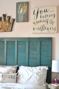 Decor Quick Tip - Shutters As Headboard