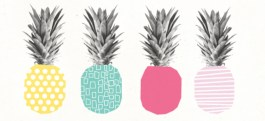 Ananas Rain Pineapple Desktop Wallpaper | via http://www.asiapietrzyk.com/blog/ananas-rain/