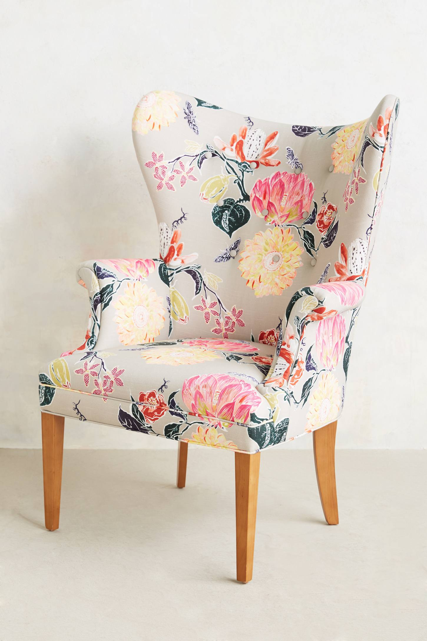 Floral Wingback Chair Décor Dictionary Selvedge The Design Tabloid