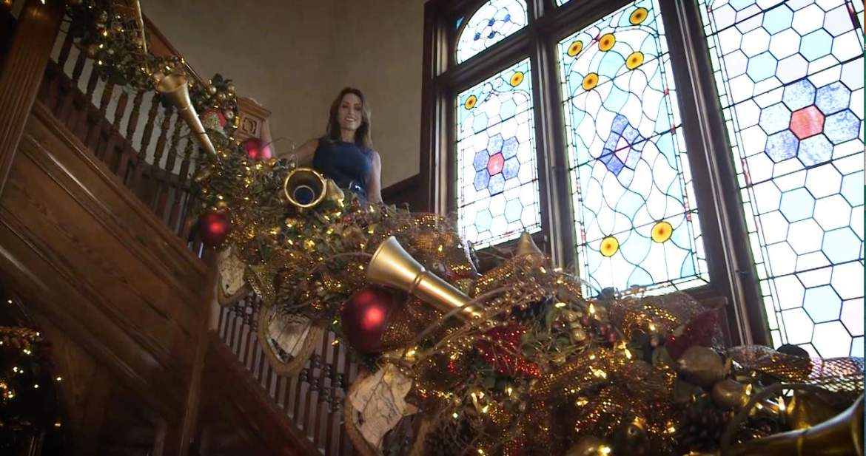 The Design Tourist Karen LeBlanc takes a Holiday Tour of the Stetson Mansion. www.TheDesignTourist.com