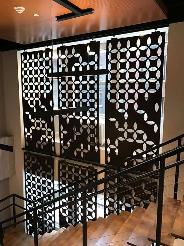 Metal laser cut panels by AJK Design Studio