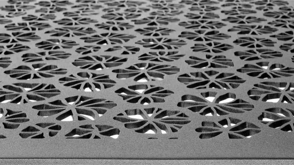 Metal laser cut panels by AJK Design Studio