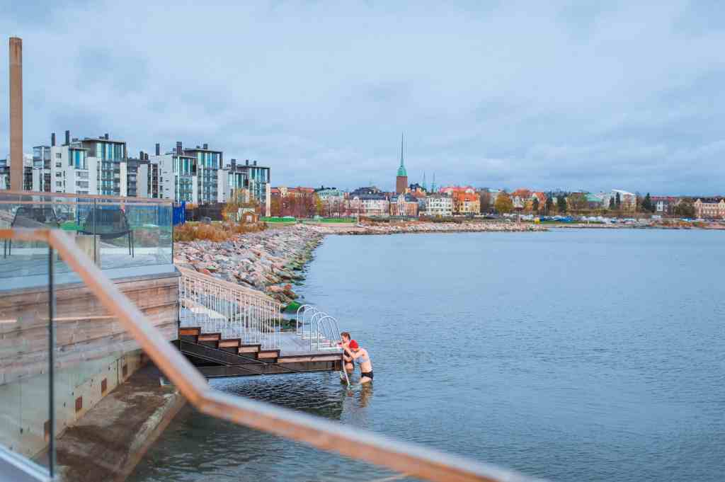 The Löyly sauna on the Helsinki waterfront is open to the public and showcases organic, modern architecture. For more design travel ideas, subscribe to the channel at youtube.com/TheDesignTourist