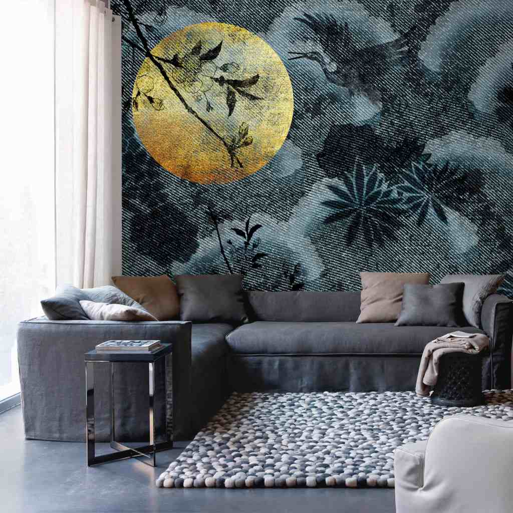 Moon wallpaper design from the Palingenes Collection, Skinwall