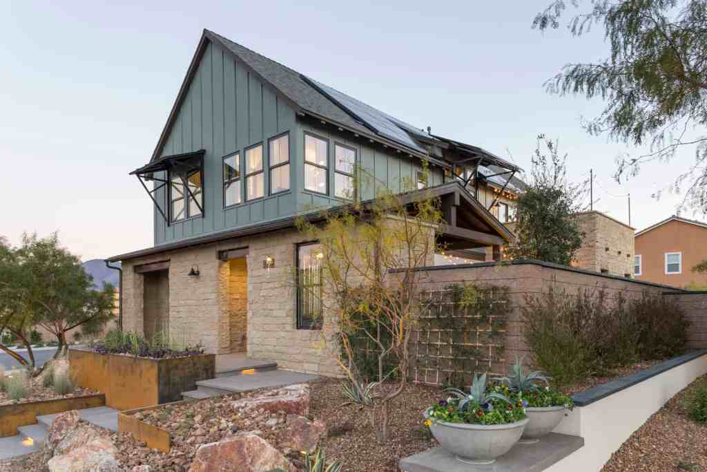 Contemporary Farmhouse, a Millennial-targeted concept home built by Pardee Homes