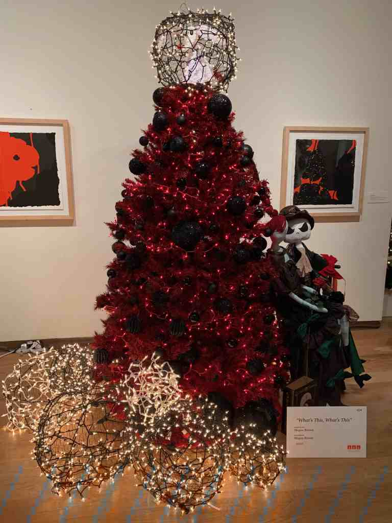 Designer Christmas Tree at Orlando Museum of Art event, Festival of Trees.