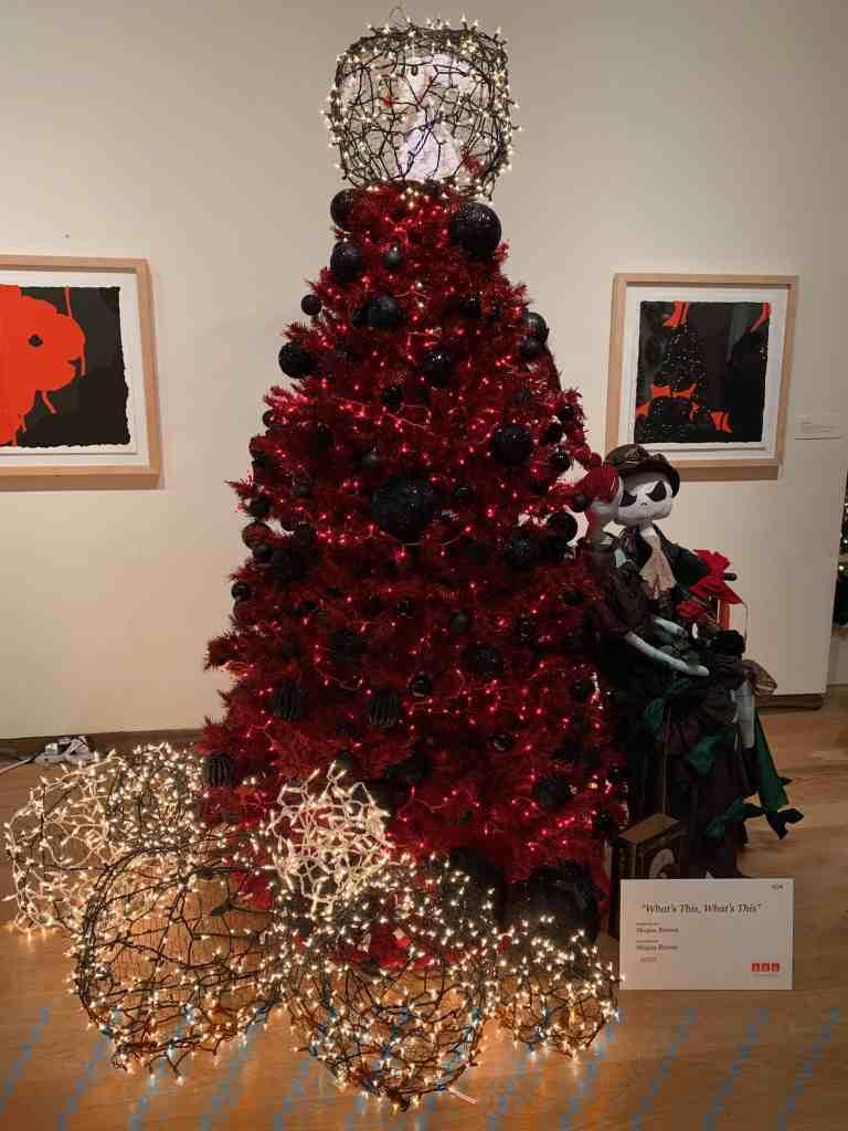 Designer Christmas Tree at Orlando Museum of Art event, Festival of Trees.
