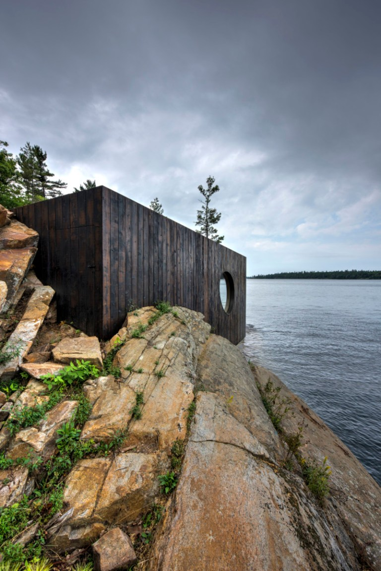 Grotto Sauna exterior. Photo: Jonathan Friedman