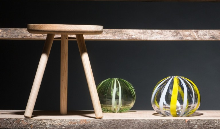 Wooden Creepie Stool by Whackpack Furniture - Benny Magennis, Urchin by Catherine Keenan. Photo: supplied