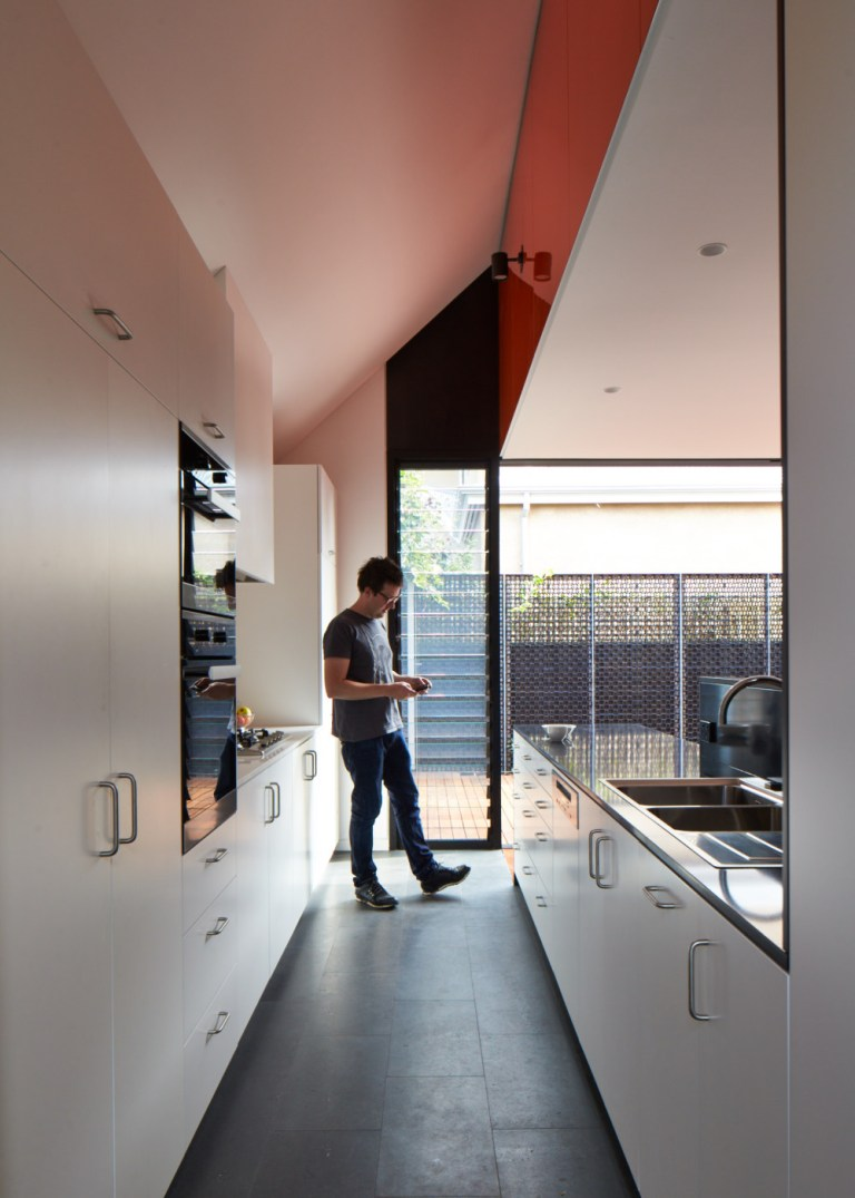 Kitchen view, Camino House, designed by Bosske. Photo: Peter Bennetts